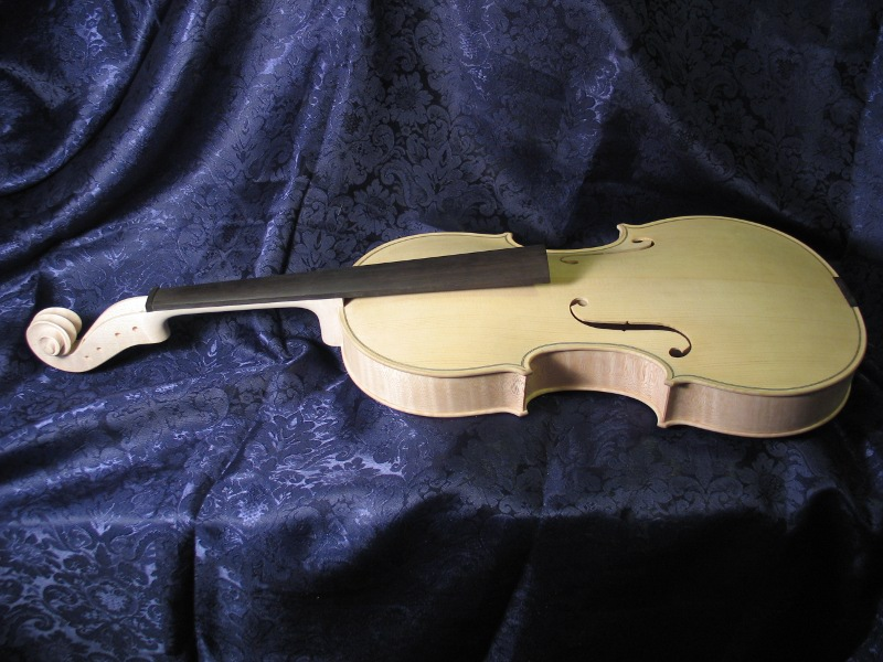 Viola before being varnished