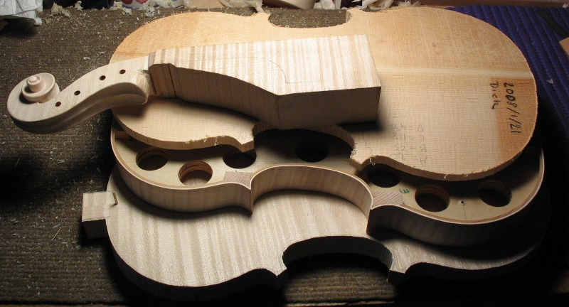 Baroque violin making