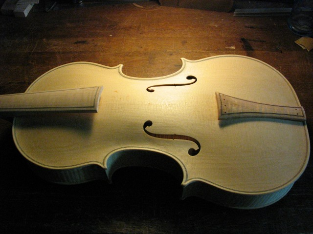 Body of the Baroque amati viola in the white