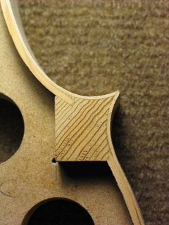 Violin ribs corner detailed view